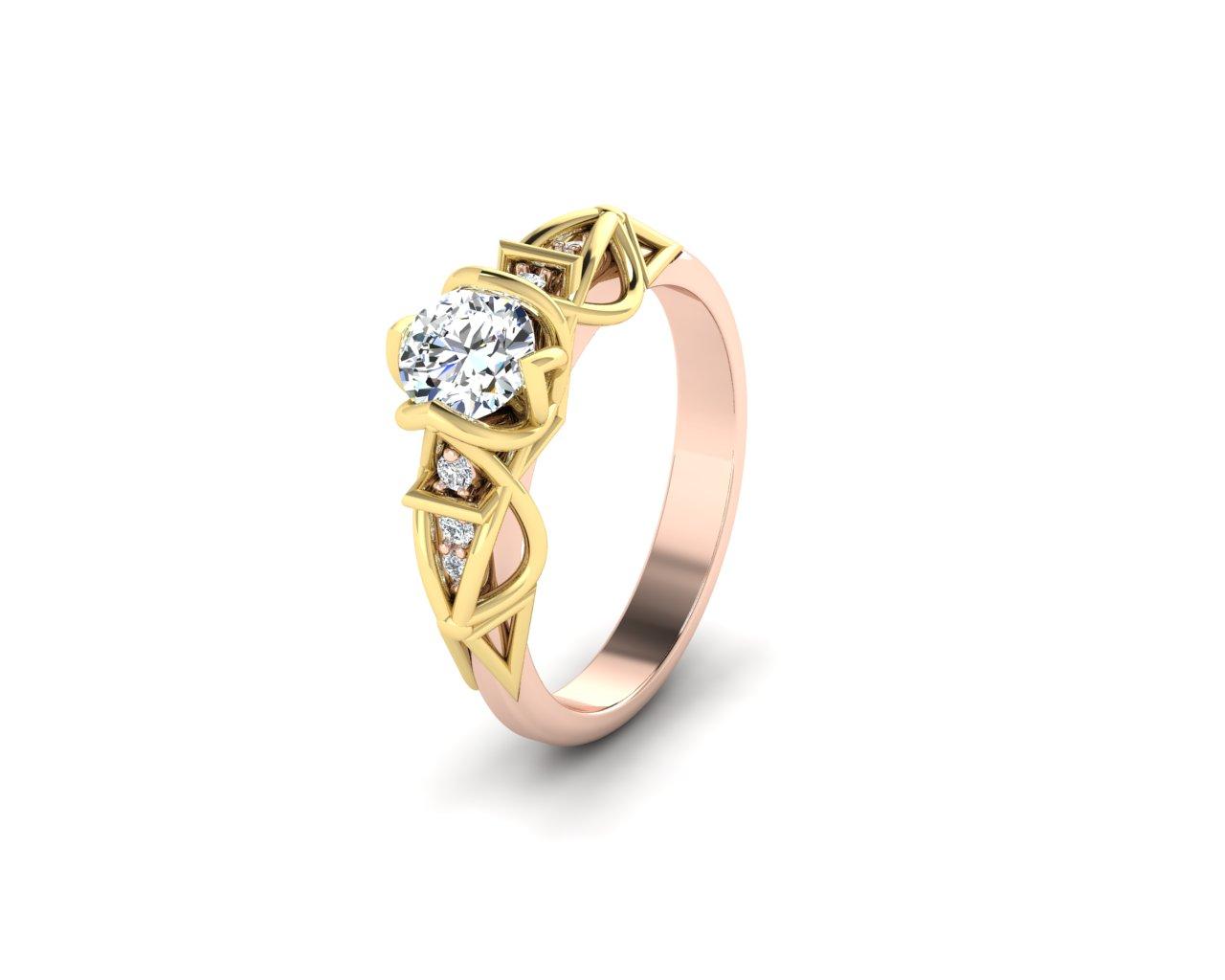 Zásnubní prsten Variation of Naos II.