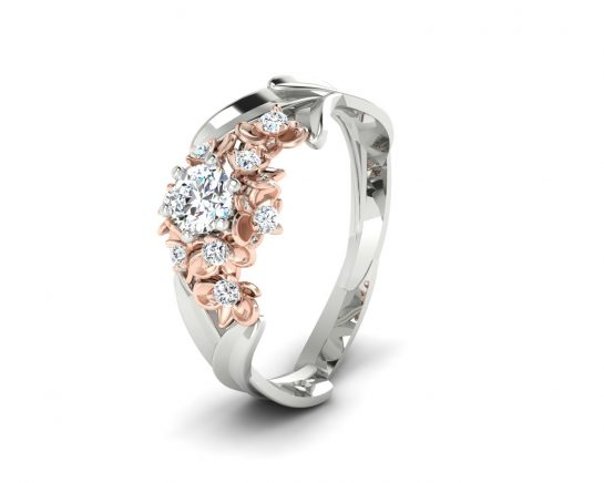 Zásnubní prsten Variation of Modern Style