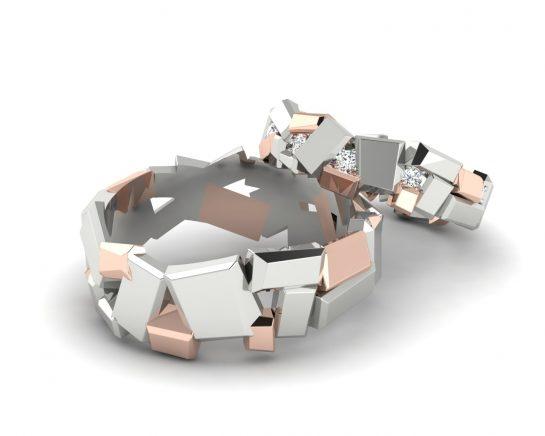 Snubní prsteny Variation of Tron II